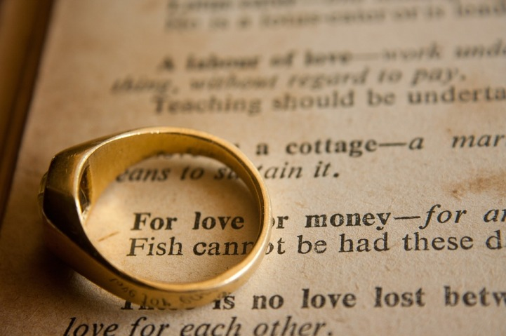 Phrase Wedding Marriage Love Or Money Wedding Ring