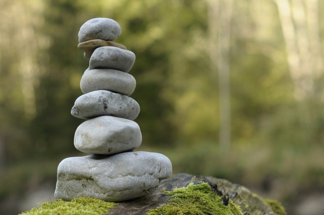 Stone Tower Layered Cairn Stones Stacked Balance