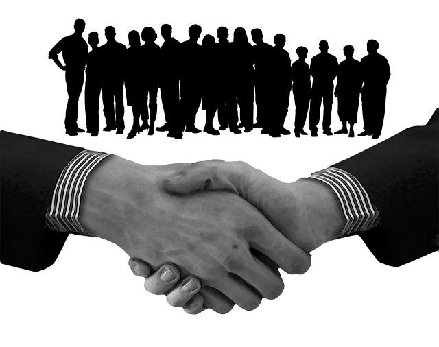 Shaking Hands Teamwork Staff Team Handshake